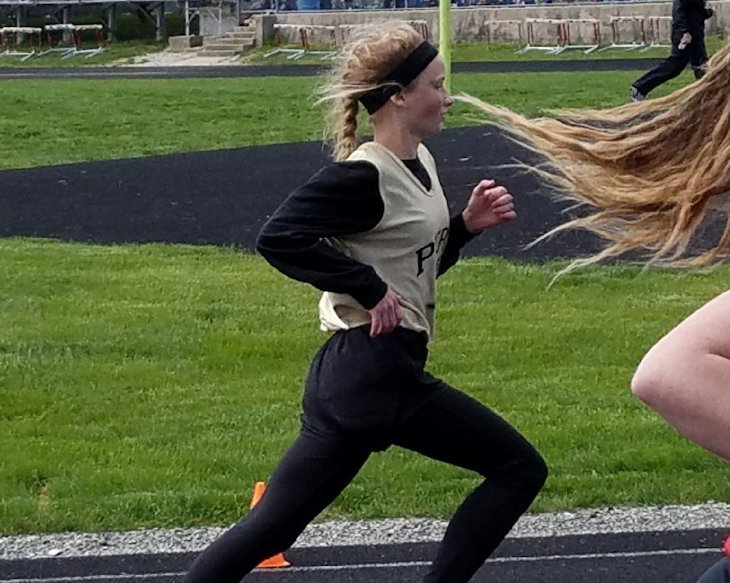 Students in School Activites (Athletics, Classrooms, Plays, Band, Art Projects) (PHS Student running track.jpg)